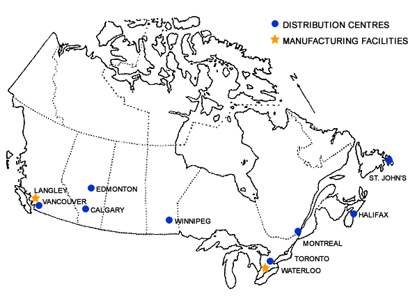 JD Sweid Locations Map